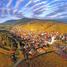 Baptême en Hélicoptère à Colmar - Survol de Kaysersberg