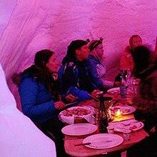 Diner dans un Igloo à Avoriaz