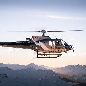 Baptême en Hélicoptère survol du Mont Blanc
