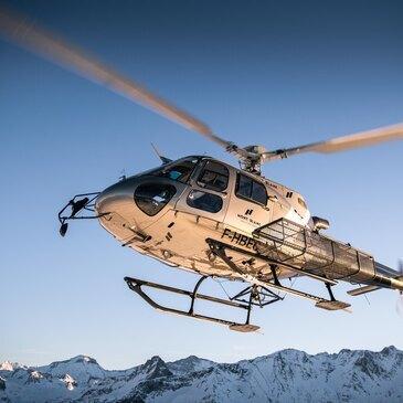 Baptême de l'air hélicoptère proche Altiport de Megève