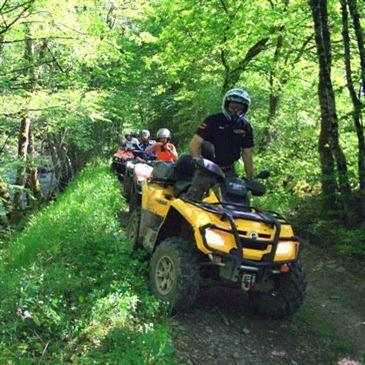 Randonnée en quad (Région Bourgogne)