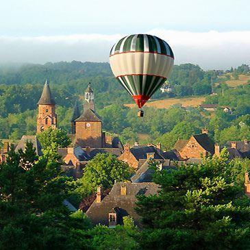 Vol en montgolfière à Collonges-la-Rouge