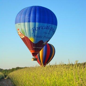 Baptême de l'air montgolfière, département Alpes de Haute Provence
