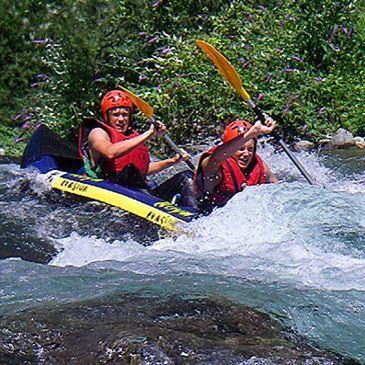 Descente Sportive en Canoë Raft sur la Roya près de Menton
