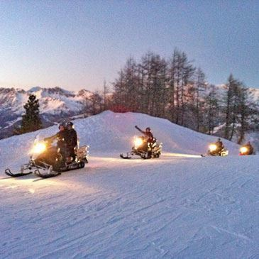 Randonnée scooter des neiges - Pra Loup