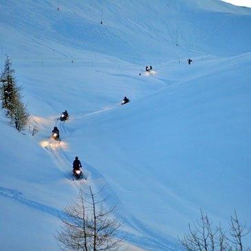 Scooter des neiges, département Alpes de Haute Provence