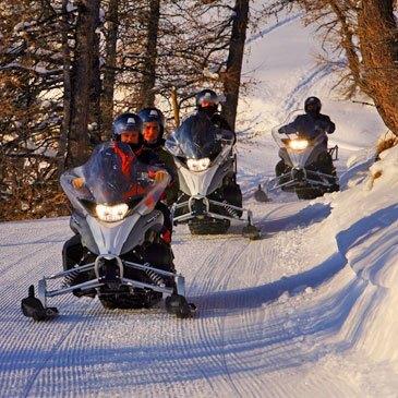 Pra Loup, Alpes de Haute Provence (04) - Scooter des neiges