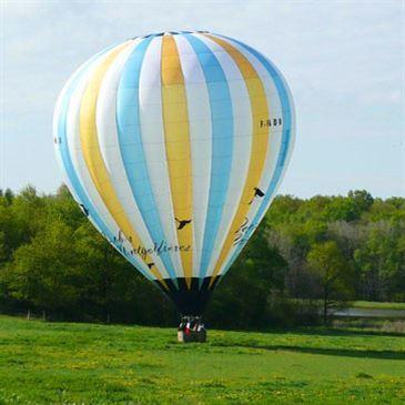 Vol en montgolfière (Survol de la Dombes)