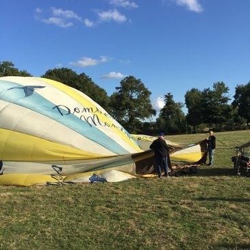 Baptême de l'air montgolfière proche Marlieux, à 45 min de Lyon