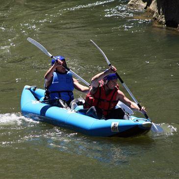 Descente en Canoë Raft sur l'Aude à Quillan