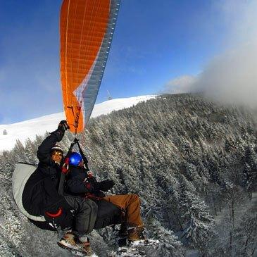 Parapente à Ski, département Alpes de Haute Provence