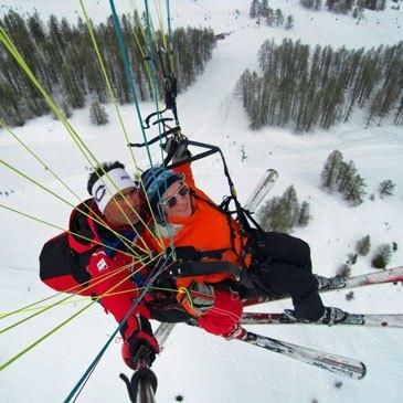 Pra Loup , Alpes de Haute Provence (04) - Parapente à Ski