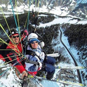 Parapente à Ski proche Pra Loup