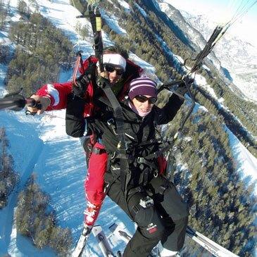 Réserver Parapente à Ski département Alpes de Haute Provence