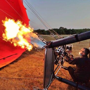 Vol en montgolfière au Château de Saumur en région Pays-de-la-Loire