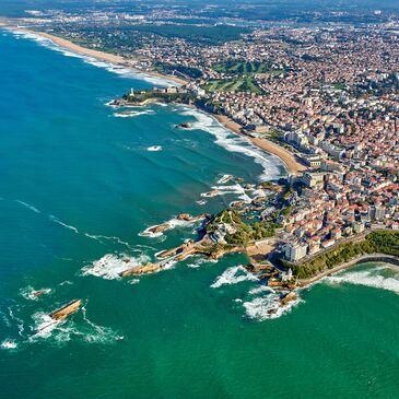 Baptême de l'air hélicoptère proche Aéroport de Biarritz Pays Basque
