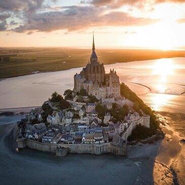 Baptême en Hélicoptère - Survol du Mont Saint Michel