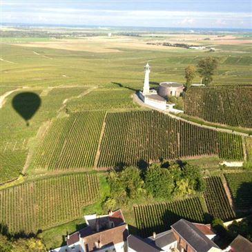 Vol Montgolfière, département Marne