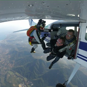 Saut en parachute, département Var