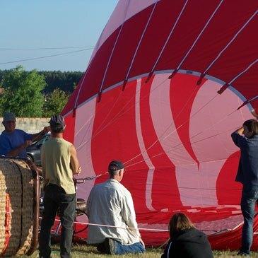 Baptême de l'air montgolfière, département Maine et loire