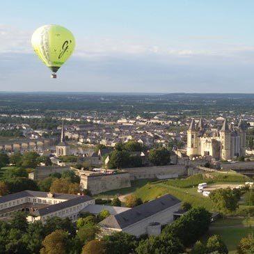 Montreuil-Bellay , Maine et loire (49) - Baptême de l'air montgolfière