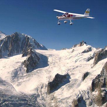 Baptême en ULM Multiaxe à Megève - Chamonix et le Mont Blanc
