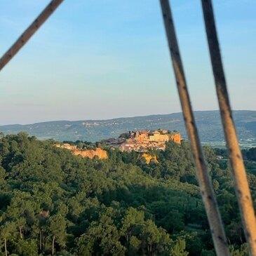 Roussillon, Vaucluse (84) - Baptême de l'air montgolfière