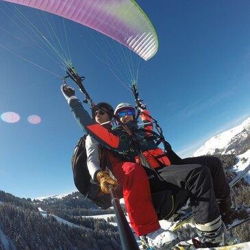 Baptême de l'air parapente à skis (La Clusaz)