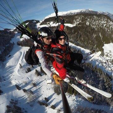 La Clusaz, Haute savoie (74) - Parapente à Ski