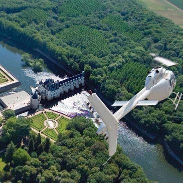 Baptême en Hélicoptère - Survol du Château de Chenonceau