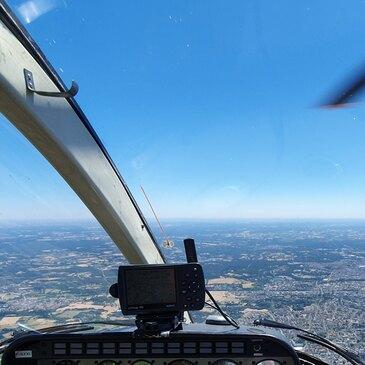 Baptême de l'air hélicoptère proche Héliport de Belleville à Neuvy le Roi