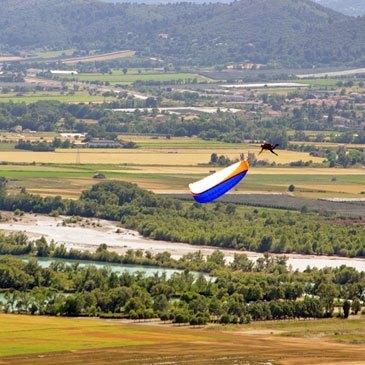 Baptême en parapente, département Alpes de Haute Provence