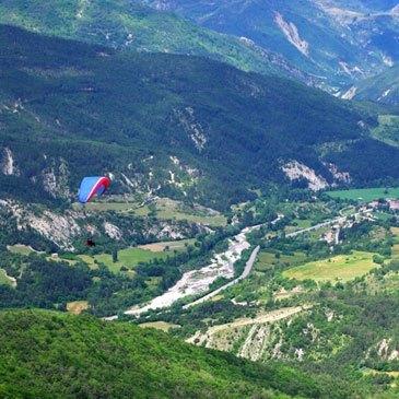 Barrême, Alpes de Haute Provence (04) - Baptême en parapente