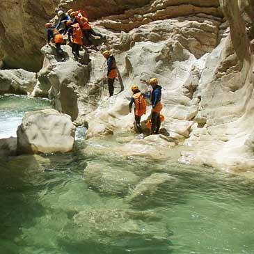 Descente du Canyon de Miraval