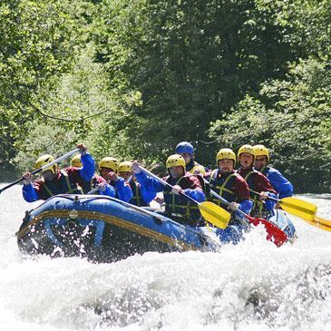 Rafting sur l'Isère à La-Plagne