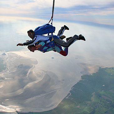 Saut Parachute en tandem au Mont Saint Michel