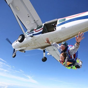 Saut en parachute, département Manche