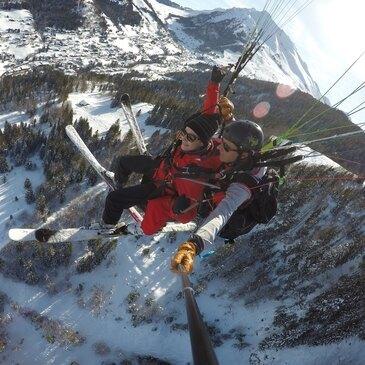 Baptême Sensation en parapente à skis (La Clusaz)
