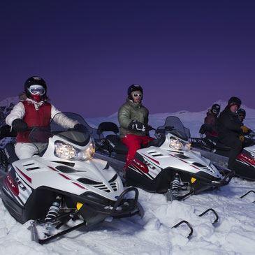 Randonnée scooter des neiges (La Plagne)