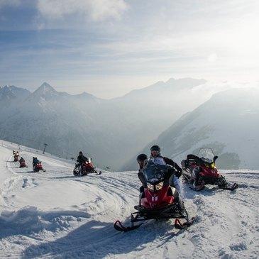 Randonnée en Scooter des Neiges aux Deux-Alpes