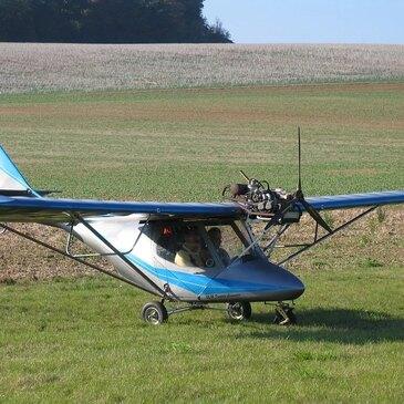 Pilotage d'ULM Multiaxe près de Fontainebleau