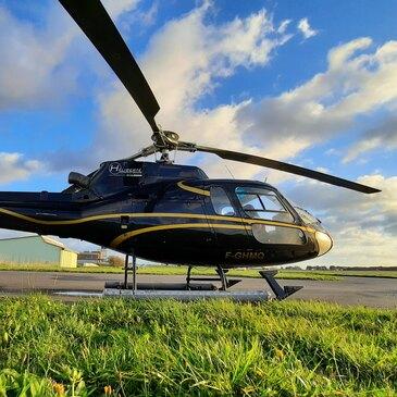 Baptême de l'air hélicoptère, département Côtes-d'Armor