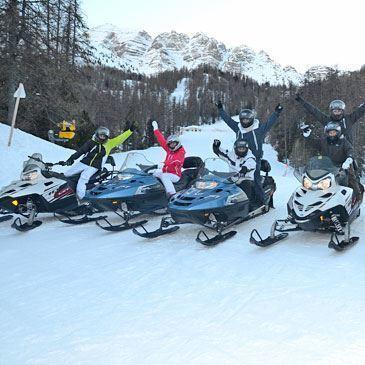 Randonnée scooter des neiges (Vars)