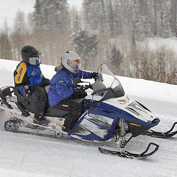 Randonnée scooter des neiges (Auron)