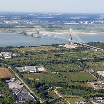 Baptême en Hélicoptère - Honfleur et Pont de Normandie