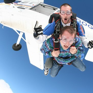 Saut en parachute, département Ardèche