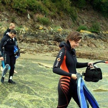 Randonnée subaquatique, département Morbihan