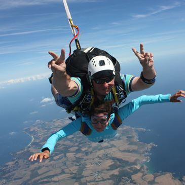 saut en parachute a quiberon