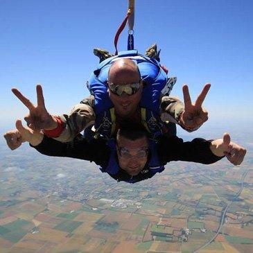 Saut en parachute, département Deux sèvres