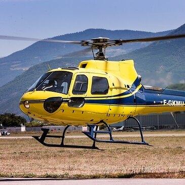 Baptême de l'air hélicoptère, département Pyrénées orientales